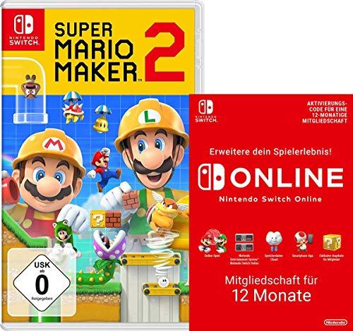 Super Mario Maker 2 [Nintendo Switch] + Switch Online 12 Monate [Download Code]