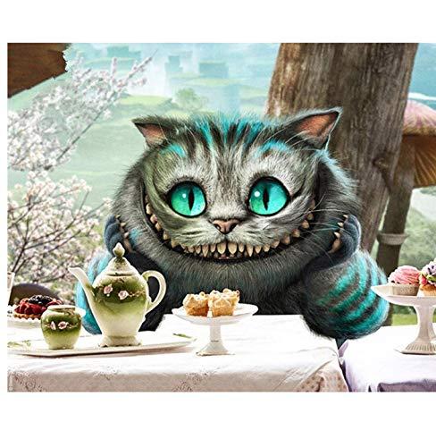 Diamant Schilderij Kit 5D Cross Stitch DIY Nieuwe Kat Wachten op Voedsel Icon Naaldwerk Mozaïek Home Decor Strass Borduurwerk Geschenken 40X50Cm