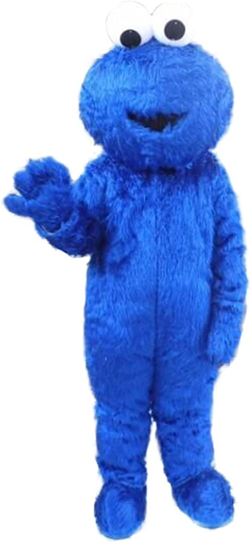 CosplayDiy Unisex Mascot of Sesame Street Cookie Monster Mascot Costume Adult XXL
