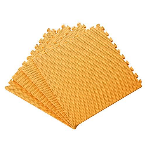 AWSAD Dalles en Mousse avec Bordure Durable Imperméable Parc D'attractions Sol Et Bébé, Plusieurs Couleurs, 60x60x1.5cm (Color : Orange, Size : 6-Tiles)