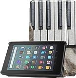 Funda para Tableta Fire para niños Un Lindo Gato Tocando el Piano Funda para Kindle Fire 7 2019 para...