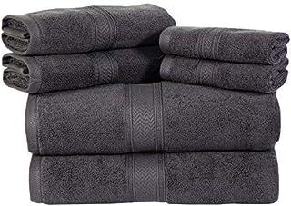 Juego de toallas, Gris platinado, 6 Piece Towel Set