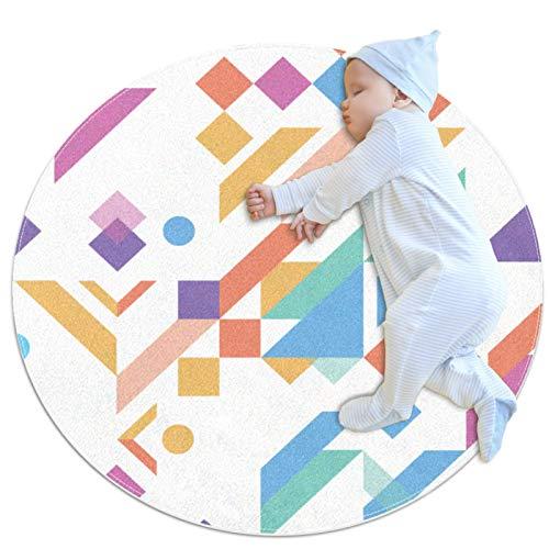 Alfombras antideslizantes de piso, esteras de gateo, esteras de juegos infantiles de guardería, esteras de juego de alfombras para niños, alfombras de juego para niños, líneas geométricas de color