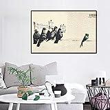 mmzki Impresiones Imágenes de Pared Graffiti Pigeon Poster Obra de Arte Decoración Lienzo Pintura para el hogar Estilo nórdico Abstracto Moderno para Sala de Estar X 40X60CM