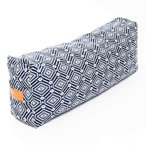 #DoYourYoga Yogabolster »Paravati« mit Bio-Dinkelspelz (KBA), waschbarer Bezug aus 100% Baumwolle, 67cm x 13cm, Yogakissen/Sitzkissen/Zafukissen...