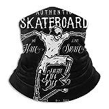 N / A Bufanda Facial Secado Rápido Bufanda Pañuelo Facial Skateboard Activity Logo Calentador De Cuello De Microfibra Multifunción Unisex para Partido Correr Motocicleta
