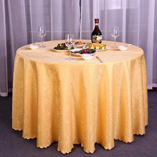 Kuingbhn Mantel de Decorativo a Prueba de Polvo Simple and Modern Uso para La Mesa de Comedor Banquete Sirve Golden Circle Diameter 240cm