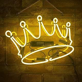 KONON Crown Shape Neon Sign Light Pub Night Game Room Beer Bar Bedroom Decor