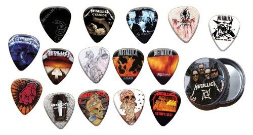 Metallica 15 X Chitarra Picks Plettri with Tin ( Gold Edition )