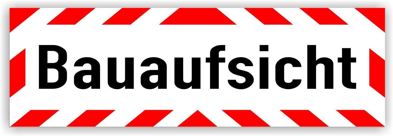 Lohofol Magnetschild Bauaufsicht Schild Magnetisch Lieferbar In Drei Größen 45 X 15 Cm Auto