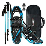 Best Snowshoes - HRKING Mens Snowshoes Set,Youth Snowshoes with Trekking Poles,Carrying Review