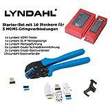 Lyndahl DIY Starter Kit con 10SL P Conectores HDMI, 1,4HDMI Cable Asamblea...