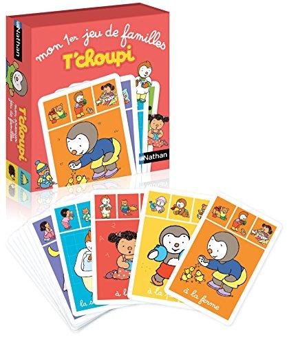 Nathan - Mon premier jeu de familles T'choupi - Un jeu de cartes 7 familles pour les enfants à partir de 3 ans d