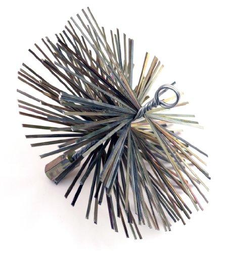 Dario Tools CMB208200 – Cepillo redondo tipo erizo, metálico (20 cm), color plateado
