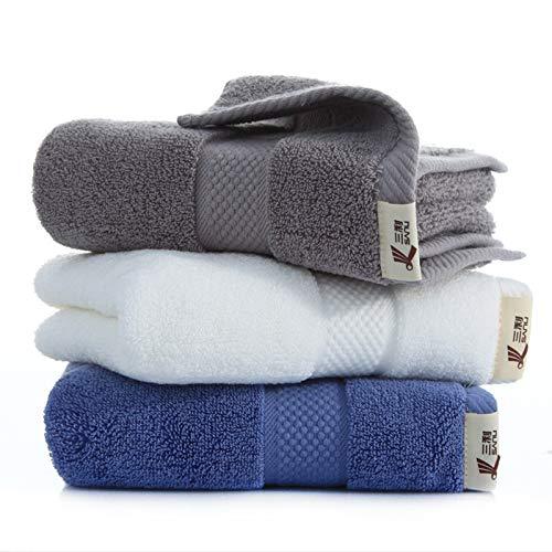 Paños de cocina de microfibra de algodón egipcio, toallas de gimnasia, toallas de viaje para la playa, toallas de mano para baño, toallas de baño, toallas para el cabello de secado rápido- 3 paquetes