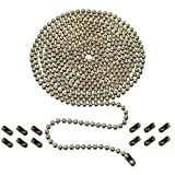Ceiling Fan Pull Chain, 10 Feet 3mm Beaded Extension Chains with 12 Connectors, Bronze