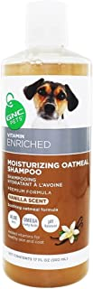 GNC Pets Moisturizing Oatmeal Shampoo, Soothing Vanilla Scent, 17 Fluid Oz.
