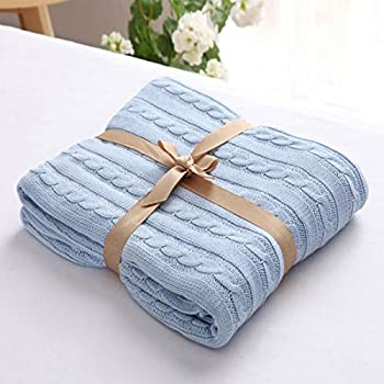 Cable Knit Throw Blanket Woven Throw Blanket for Bed Couch Sofa Home Decor Outdoor 51x70in