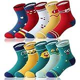 Adorel Jungen Socken Knöchelhoch Babysocken 10er-Pack Monster & Schweinchen 2-4 Jahre (Herstellergr. M)