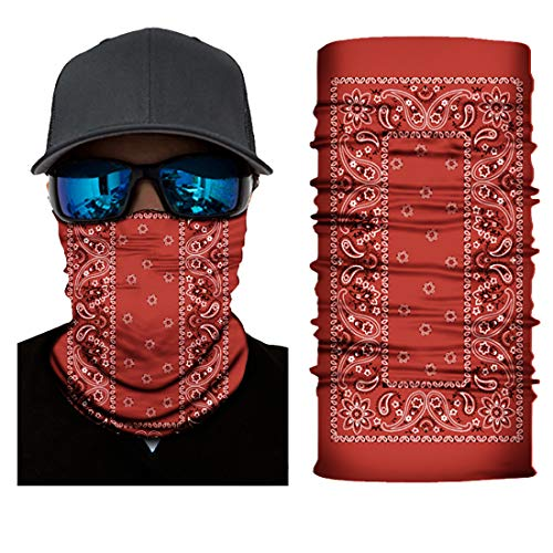 Black Roses Multifunktionstuch Herren & Damen - Wind Face Shield [Red Paisley]