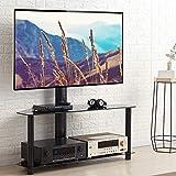 RFIVER Mueble de TV con Soporte Giratorio y Altura Ajustable para Television LCD LED de 32 a 65 Pulgadas TW1005