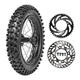 TDPRO 90/100-14 Wheel Tire and Rim Inner Tube With 15mm Bearing & 190mm Rear...
