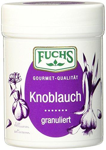 FUCHS Knoblauch granuliert, getrocknetes Knoblauchpulver (aromatisches Gewürz in Dose), 3er Pack (3 x 90 g)
