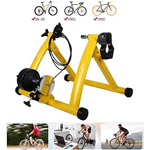 Rindasr Cycling Platform Pedal Indoor Reluctance Bike Cycling Platform 6-Level Resistance Adjustment Bicycle Turbo Trainer Portable Mountain Bike Sports Fitness Equipment Cycling Platform Trainer