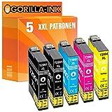 Gorilla Ink 5 Patronen XXL kompatibel mit Epson T2991 – T2994 29XL 29 XL | Geeignet für Epson Expression Home XP-235 XP-245 XP-247 XP-255 XP-257 XP-332 XP-335 XP-342 XP-345 XP-352 XP-355