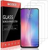 MASCHERI 3 Stück Schutzfolie kompatibel mit Xiaomi Mi 9 Xiaomi Schutzfolie Fingerabdruck ID unterstützen Blasenfrei Xiaomi 9 Bildschirmschutzfolie