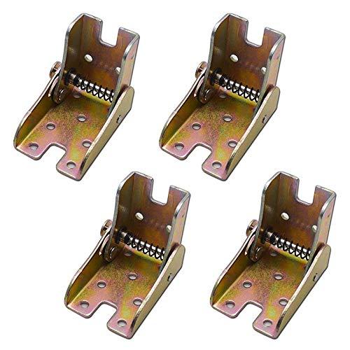 Fltaheroo 4Pcs Patas de Mesa Plegables Soportes de Apoyo de Cama Muebles Plegables Patas de Bloqueo de 2,4 Pulgadas de Altura con Resortes
