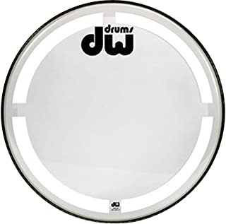Bass Drum Heads 22 inch, Clear W/ Coated O-ring