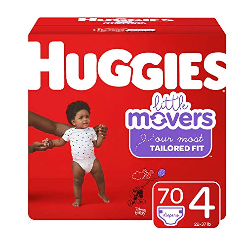 Huggies Little Movers, Baby Diapers, Size 4, 70 Ct
