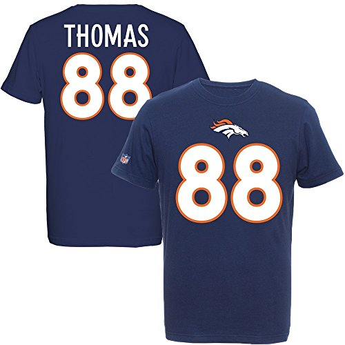 Majestic Demaryius Thomas #88 Denver Broncos Eligible Receiver NFL T-Shirt L