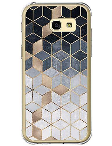 Kompatibel mit Samsung Galaxy A5 2017 Hülle Silikon Handyhülle Crystal Clear TPU Case Schutzhülle Transparente Marmor Anti-Scratch Rückschale Tasche Cover für Galaxy A3 2017 (2, Galaxy A5 2017)