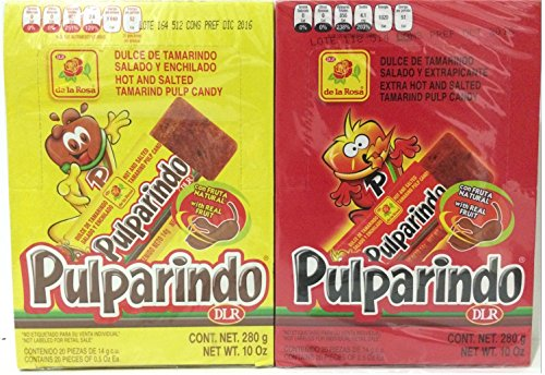 Pulparindo Classic and Extra Hot Bundle (2 Pack)