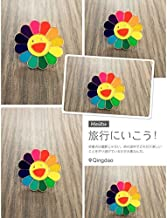 Jaese Takashi Murakami colorful cute sunflowers smiling face personality corsage brooch College Wind small collar pin collar flower girl