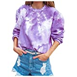 Winter Women's Gradual Pullover Casual Long Sleeve Round Neck Shirt Ladies Blouses Autumn Stylish Tops Purple