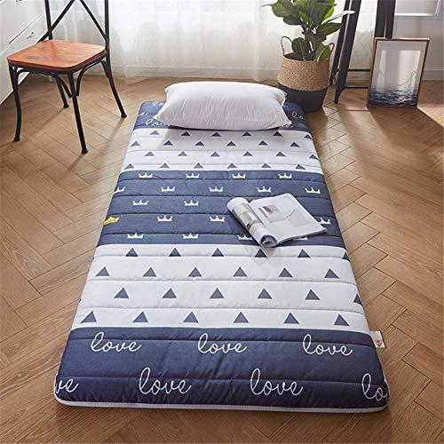TGBY Plegable Color sólido colchón Suelo Tatami Antideslizante Japonesa Tradicional Colchón De Piso Acolchado Comodo futón Estera para Estudiante Dormitorio EtcE-90x200cm(35x79inch)