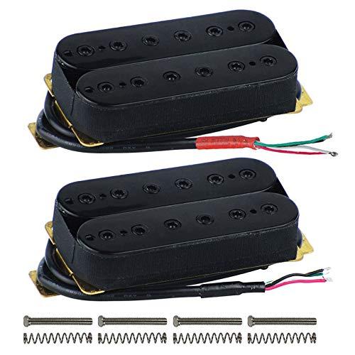 Kamenda Humbucker-Tonabnehmer für E-Gitarre, doppelspulig, mit Höhenverstellschrauben
