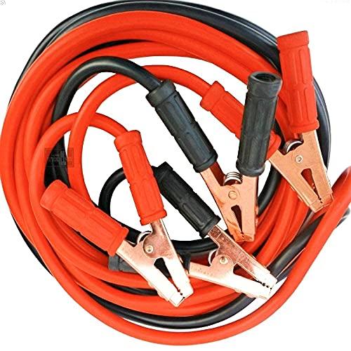 NECULAMAT Cable de Arranque Cable para Batería de Coche, Cable de Puente 1200 AMP 2,5 Metros