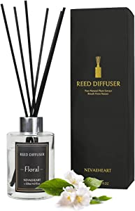 NEVAEHEART Reed Diffuser, Floral Scented Reed Diffuser Set, 4.0 oz (120ml), Oil Diffuser Sticks, Home Fragrance Products, Fragrance Diffuser