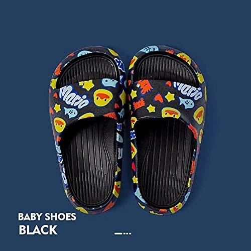 ZXQYLFLY Zuecos Mujer,Zapatillas para niños NUEVOS NIÑOS para NIÑOS Sandalias Zapatillas para niña Zapatos de Playa Soft PVC Casual Flip-Flip-Chips para niños-P4_33