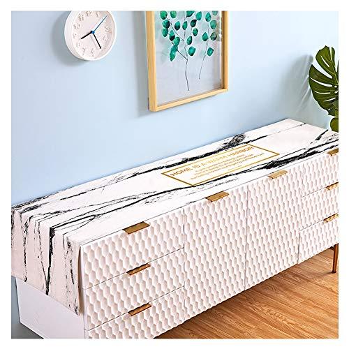 WXiao Eenvoudige, rechthoekige tafelloper, voorjaarsrand, voor binnen en buiten, stoffen decoraties