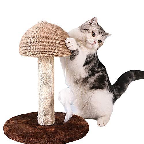 QIZIFAFA Tablero Rascador para Gatos, Rascador con Garra De Gato Colgante Sisal Kitty con Juguete Colgante para Gatos Pequeños, Torre De Árbol De Gato para Escalar