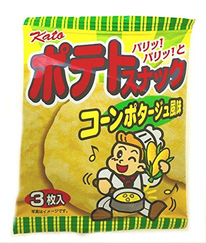 かとう製菓 ポテトスナック(コーンポタージュ風味) 3枚入×20袋