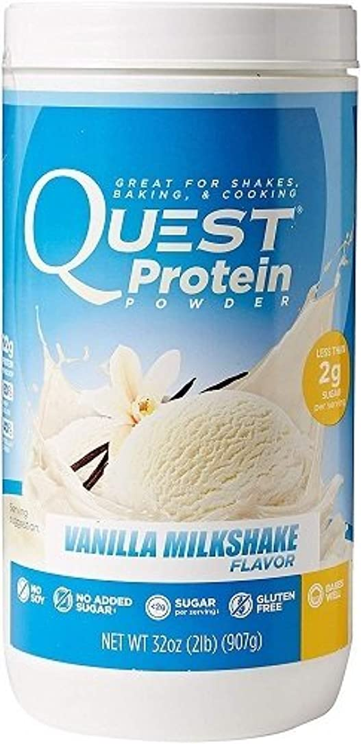 光通常安全でないQuest Nutrition, Protein Powder, Vanilla Milkshake Flavor, 32 oz (907 g) 海外直送品