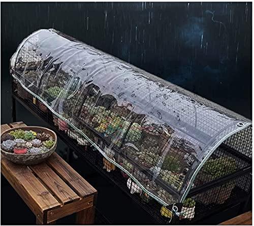 ZHANGQINGXIU Lonas Impermeables Exterior,Lona De Vidrio Transparente Lonas Para Carpa Ojales Reforzados Balcón Exterior Protección De Plantas Resistente A La Lluvia Anti-UV Anticongelante Espesor, 0.5