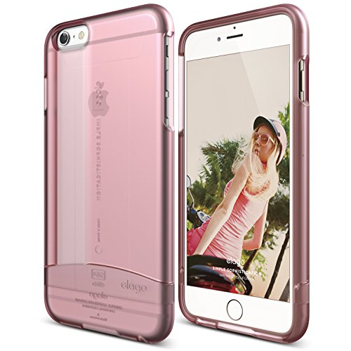 iPhone 6 Plus Case, elago [Glide Limited-Edition][Frosted Lovely Pink] - [Mix and Match][Premium Armor][True Fit] – for iPhone 6 Plus Only
