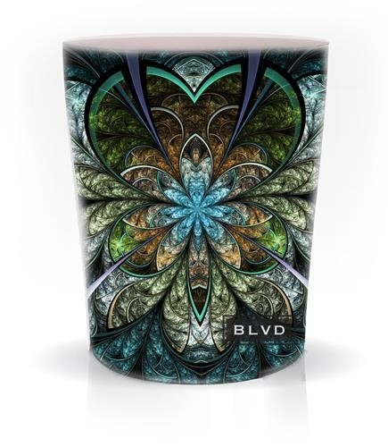 Boulevard Candles 9 Ounce Kaleidoscope Turquoise Blue